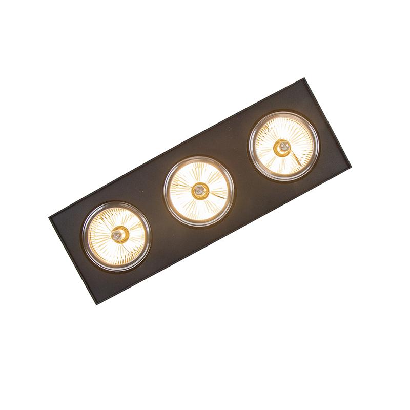 Modern Ceiling Spotlight 3 Black incl. G9 LED - Kaya