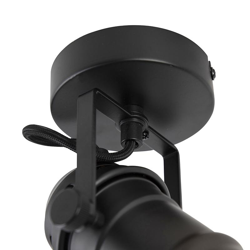 Spot industriel noir rotatif et inclinable sans capot - Movie