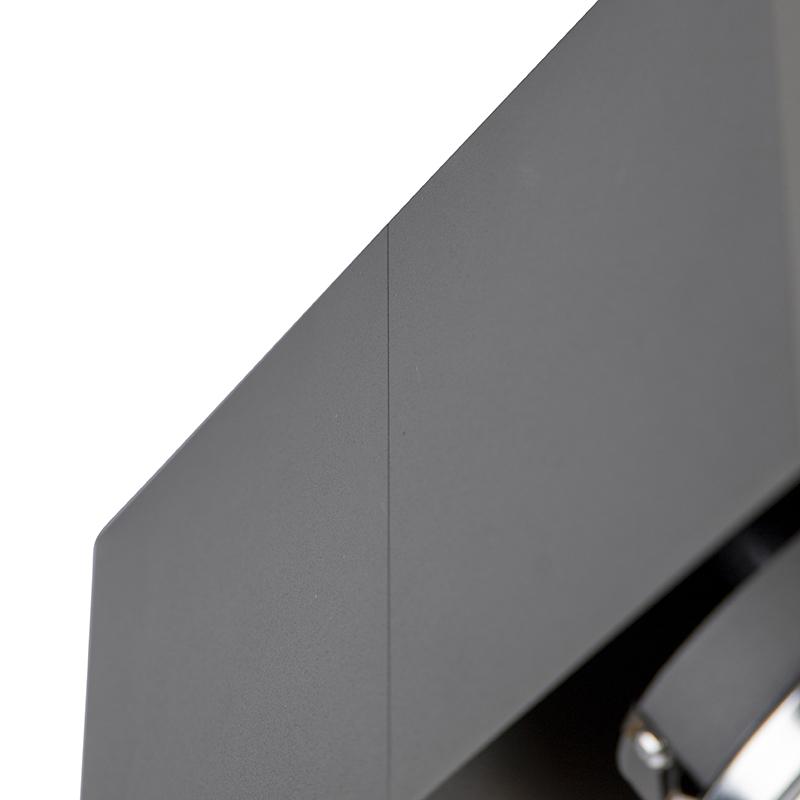 Spot design rectangulaire 2 gris clair avec 2 x G9 - Boîte