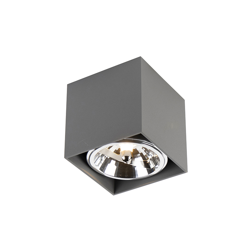 Spot design carré 1 gris clair incl.1 x G9 - Boîte