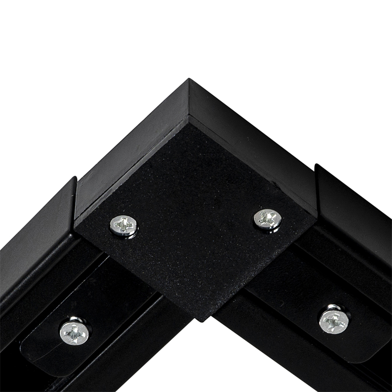 Rail system with 5 spots black 1-phase - Go