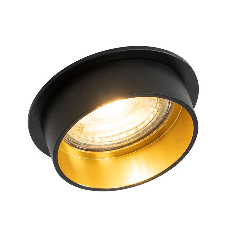 Faretto da incasso moderno nero oro - INSTA