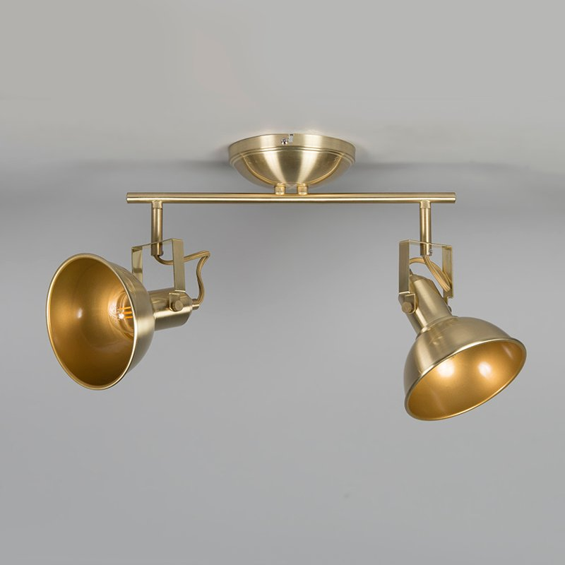 Ceiling spot gold / brass 2-light swivel and tilt - Tommy