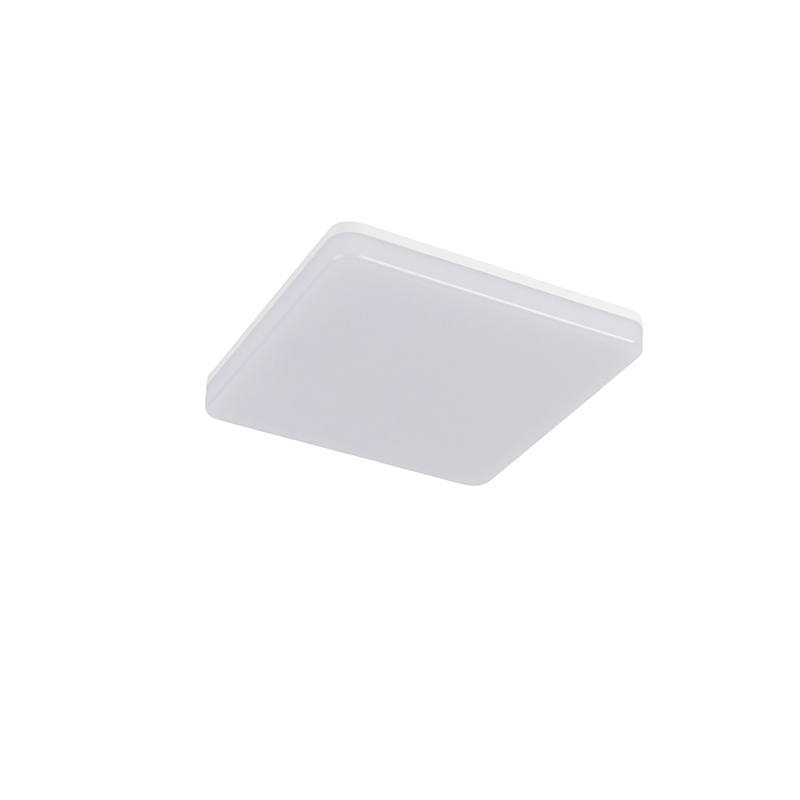 Plafonnier carré blanc avec LED et détecteur de mouvement - Plater
