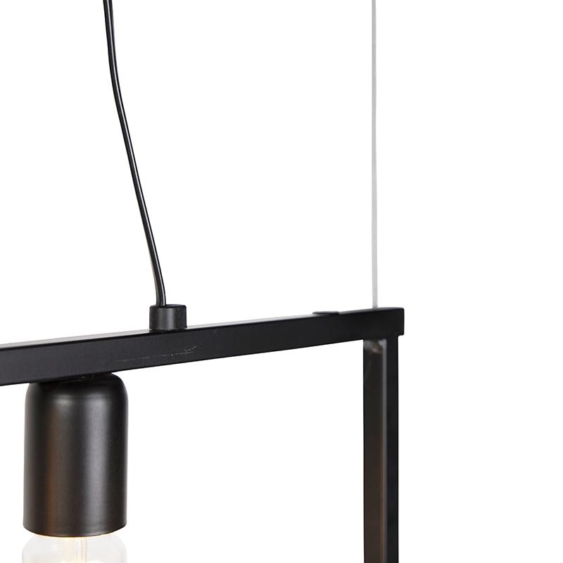 Modern hanging lamp black 3-lights - Simple Cage