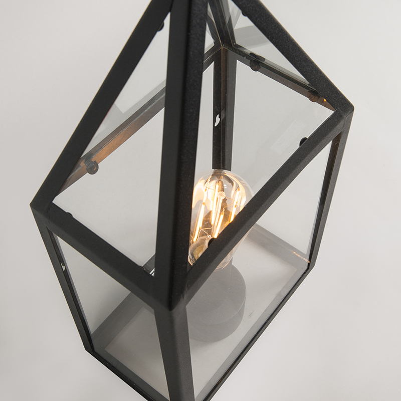 Country exterior wall lamp black - Amsterdam 2