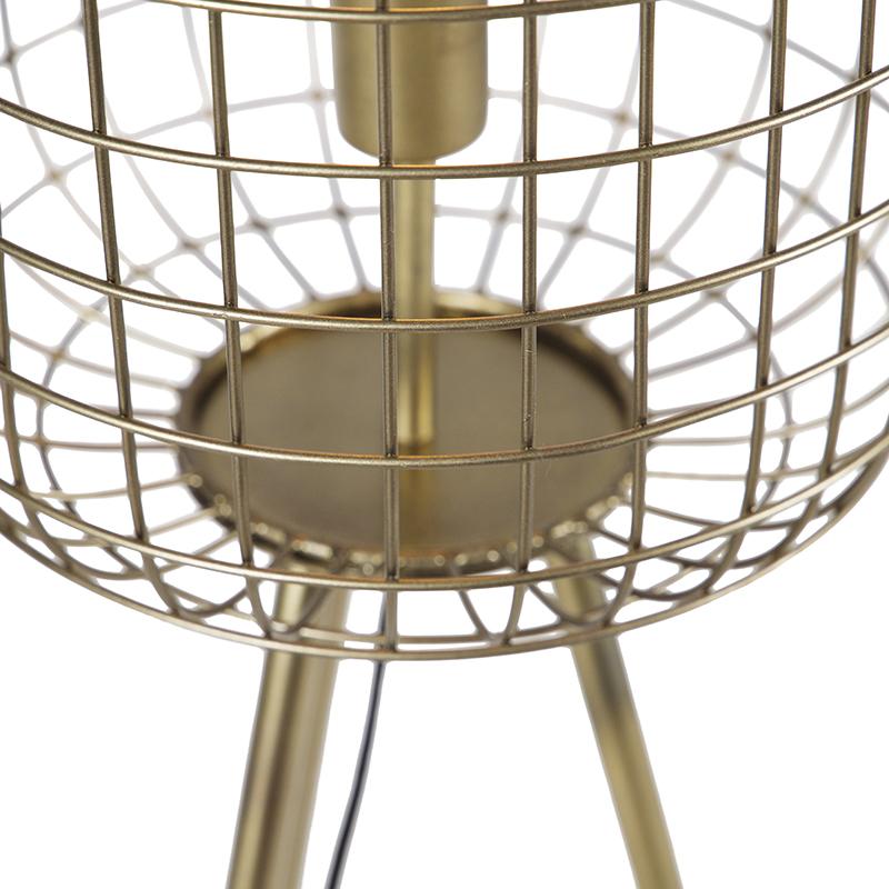 Lampadaire trépied moderne en laiton - Barir