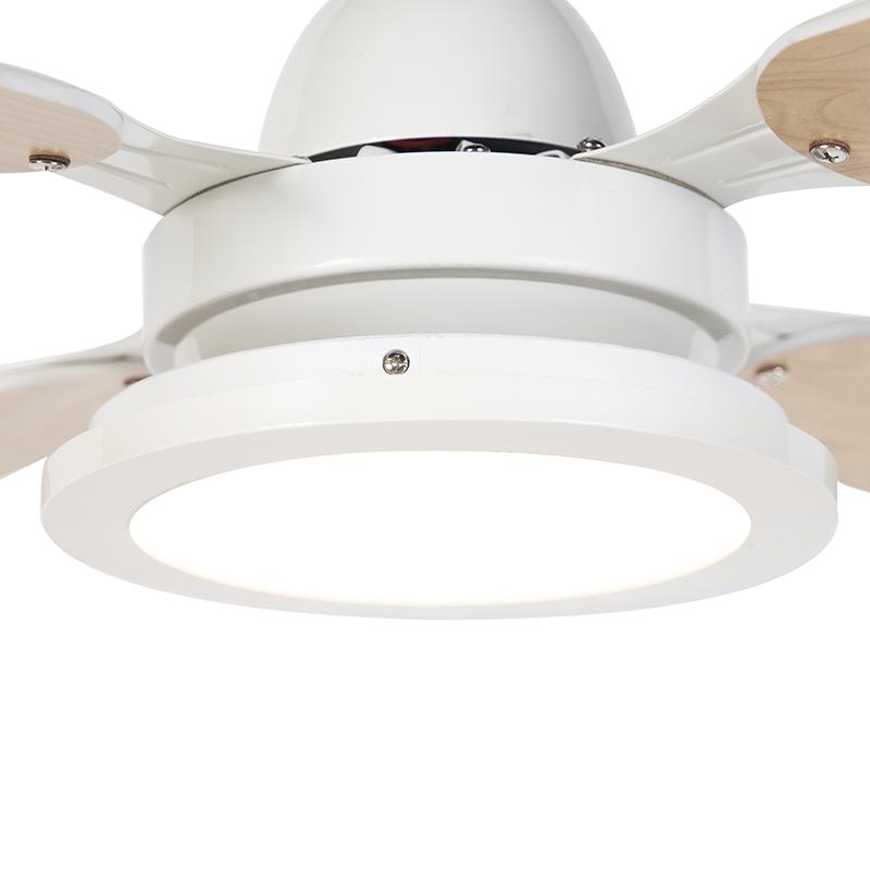 Ceiling fan white with remote control - Fanattic