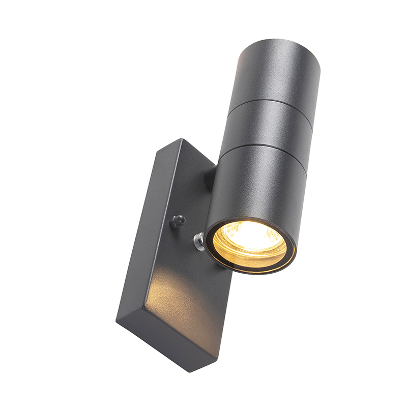 Outdoor Wall Lamp with Twilight Switch Anthracite IP44 - Duo