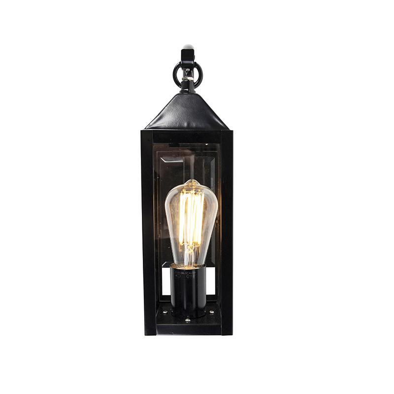 Country wall light black IP44 - Bussum