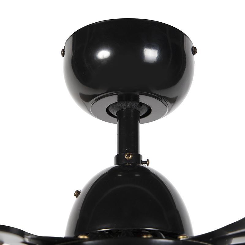 Ceiling fan black with remote control - Fanattic