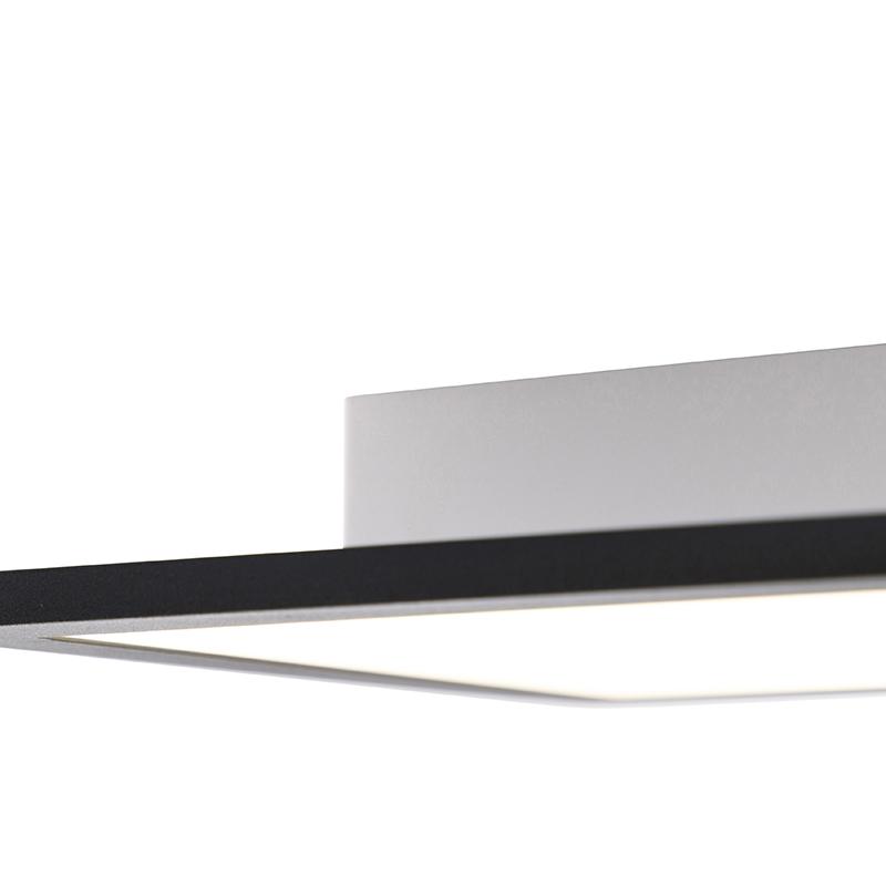 Modern LED-paneel zwart incl. LED 80 cm - Liv