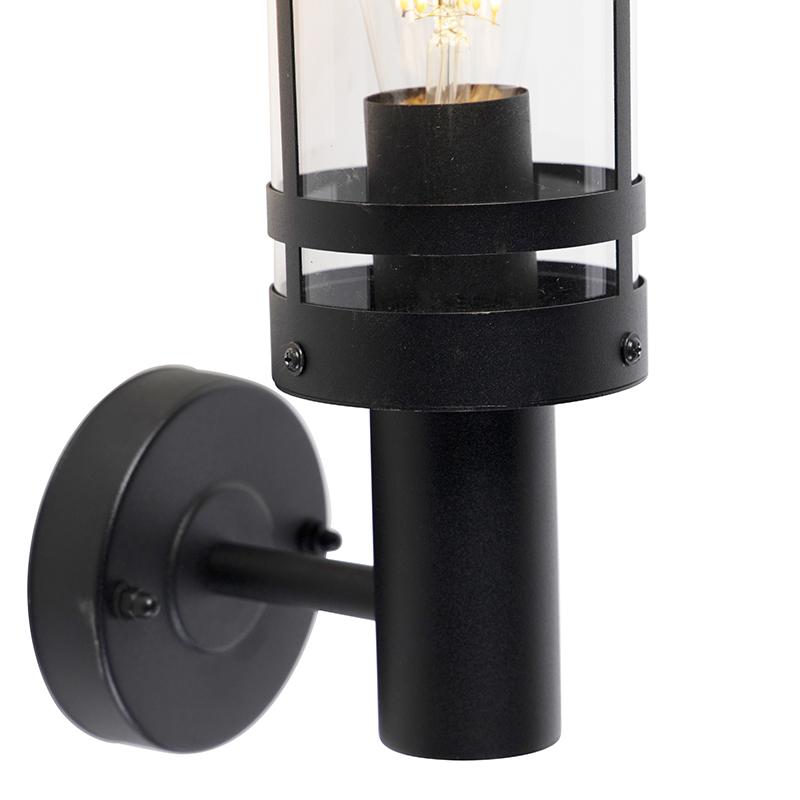 Modern outdoor wall lamp black IP44 - Gleam