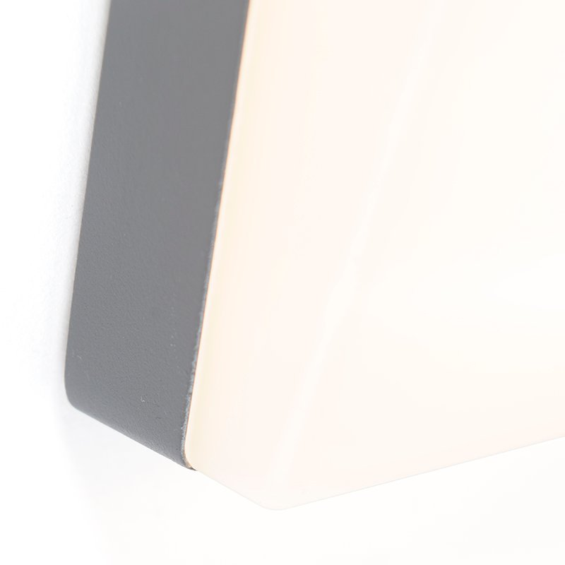 Exterior wall light gray incl. LED and house number IP54 - Numbers