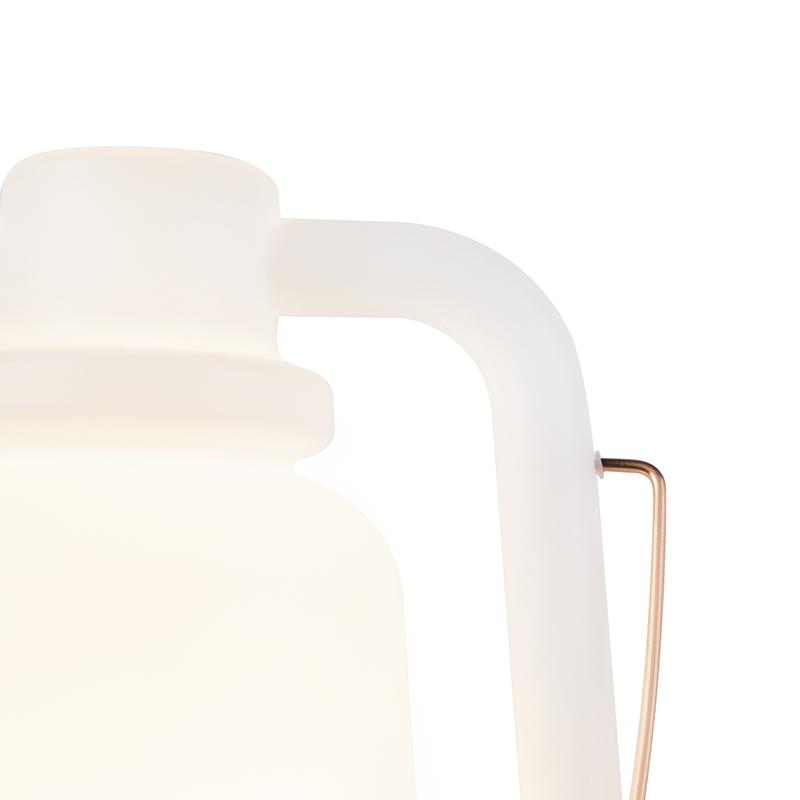 Floor lamp white 51 cm IP44 - Storm Large