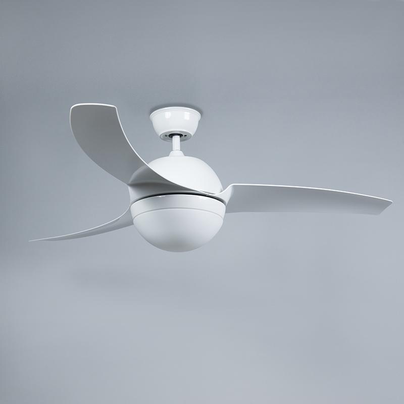 Ceiling fan white with remote control - Bora 52