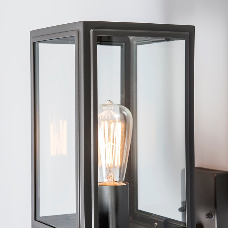 Industrial Wall Lamp Anthracite IP44 - Sutton Up