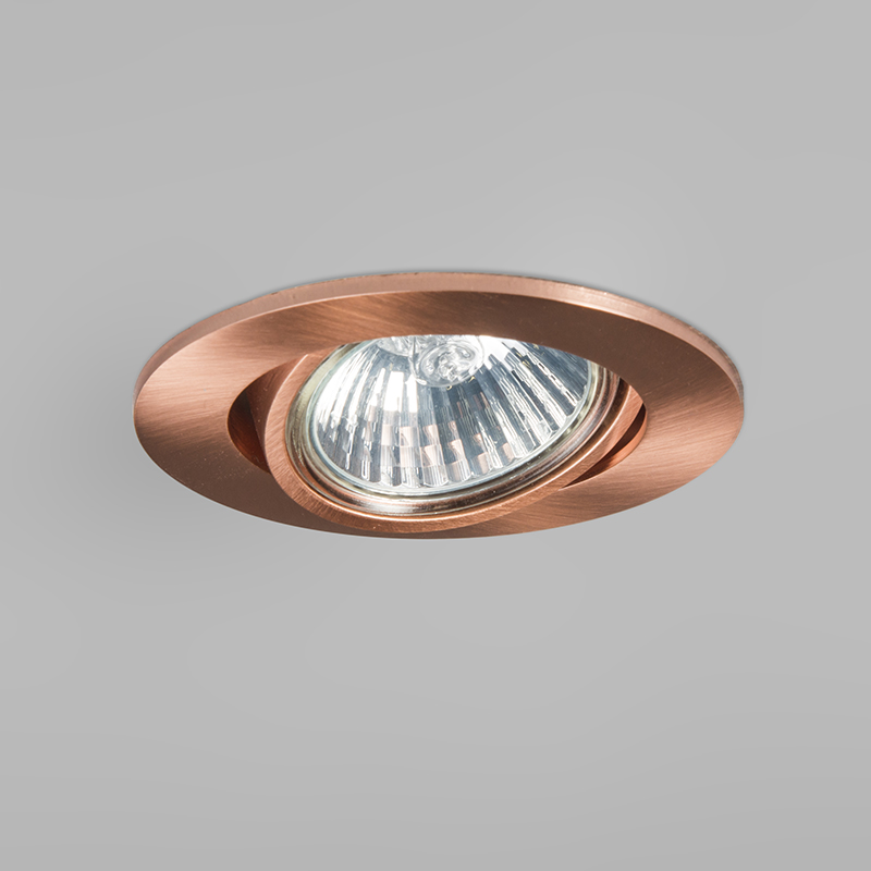 Set of 10 Recessed Spotlight Copper - Cisco