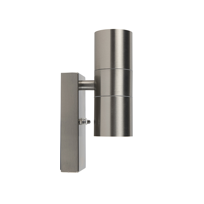 Outdoor Wall Lamp with Twilight Switch Steel IP44 - Duo