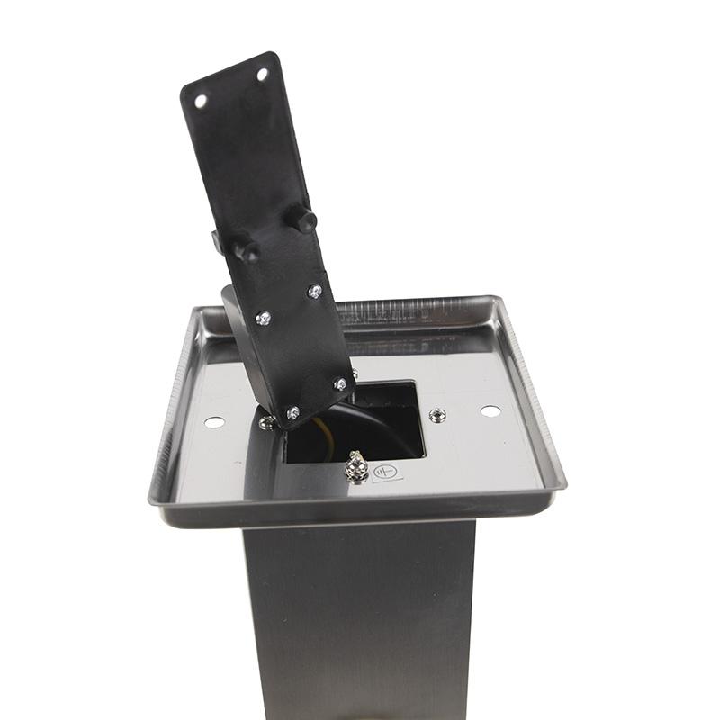Modern Outdoor Pole 45cm Steel with Socket IP44 - Malios
