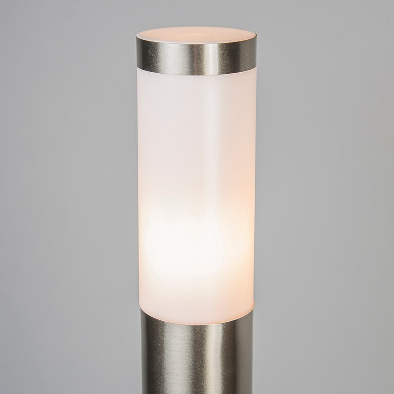 Modern outdoor lamp pole steel 110 cm IP44 - Rox