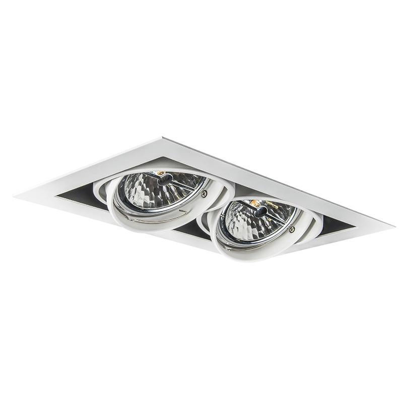 Faretto da incasso orientabile bianco a 2 luci - ONEON 111-2
