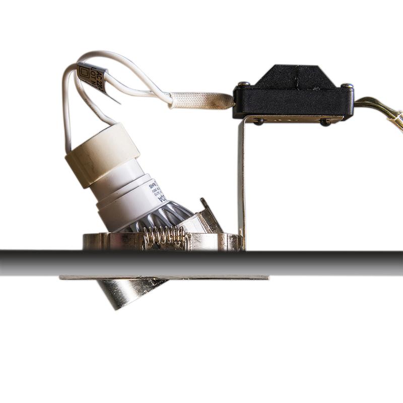 Ensemble de 10 spots inclinables modernes en acier encastré - Edu