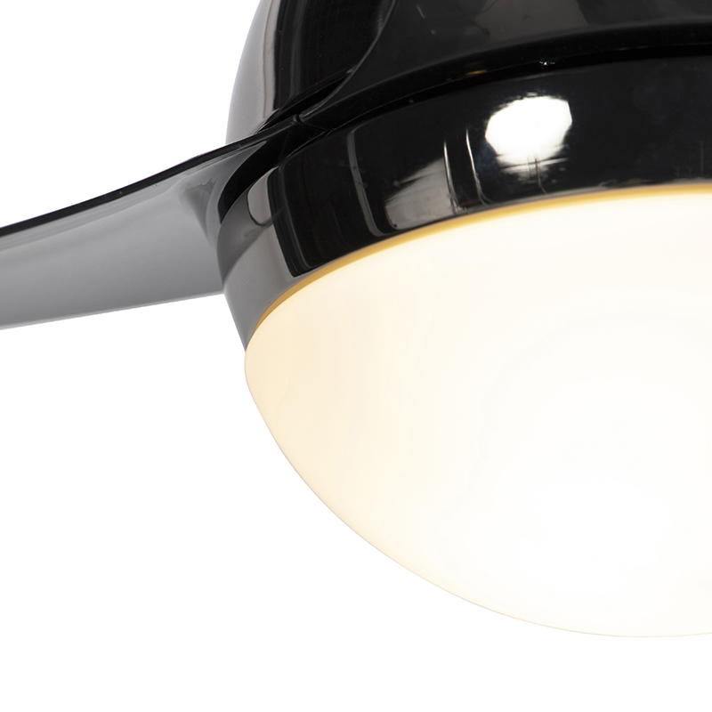Ceiling fan black with remote control - Bora 52