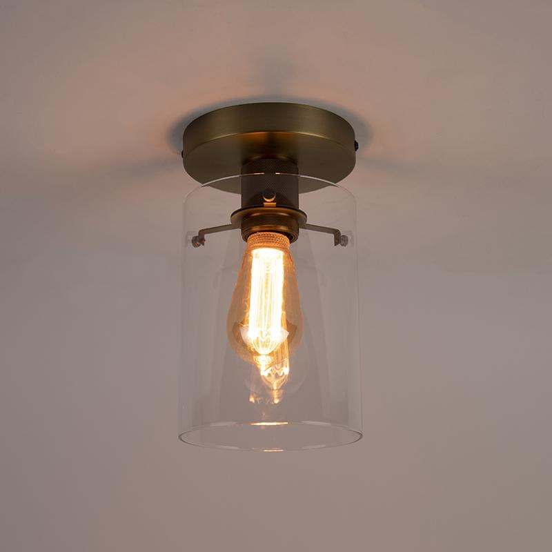 Plafoniera moderna bronzo vetro DOME