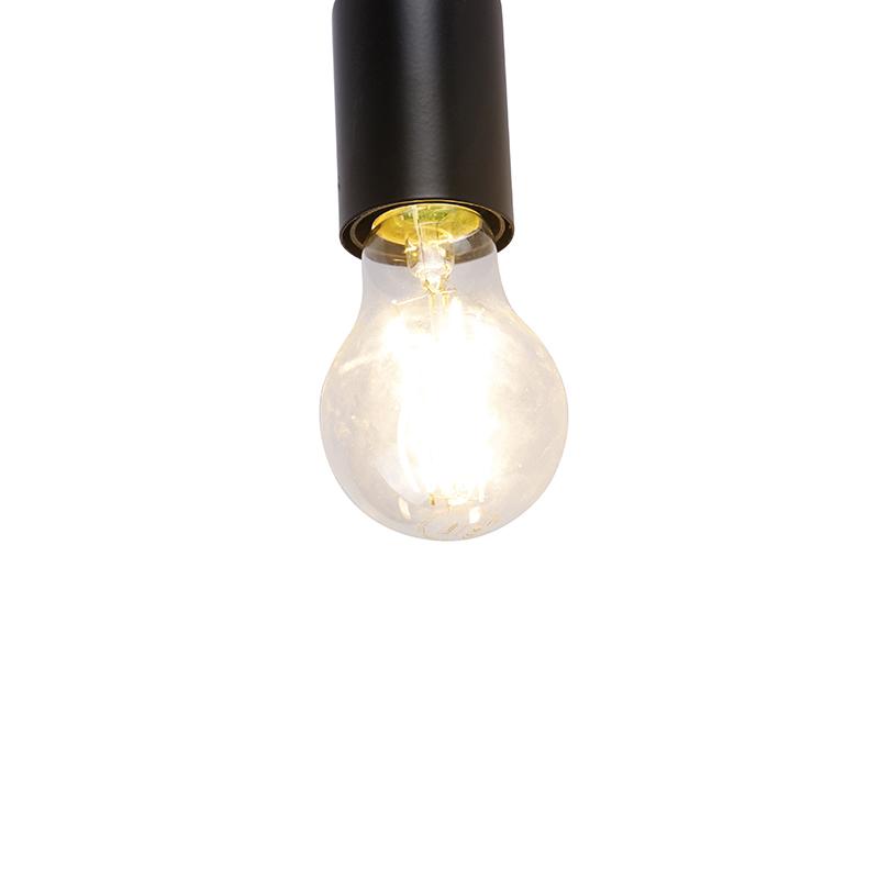 Modern ceiling lamp black 3-light round - Facil