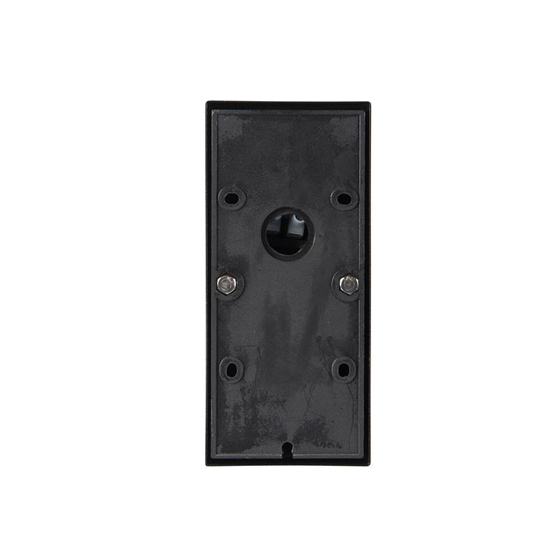 Exterior wall light black with light-dark sensor IP44 - Solo