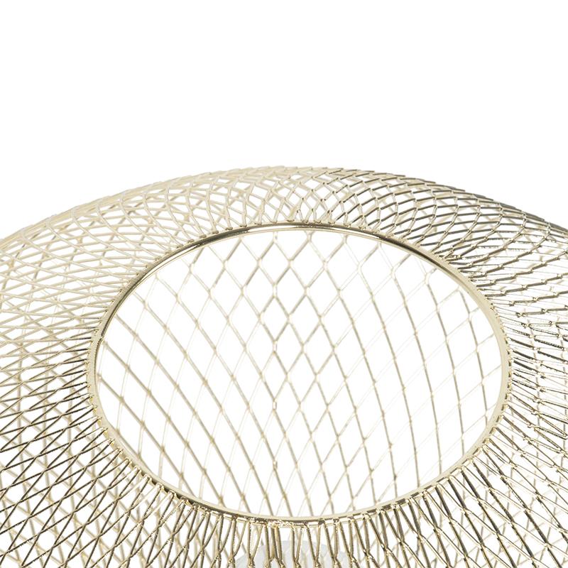 Design table lamp white with brass - Ella