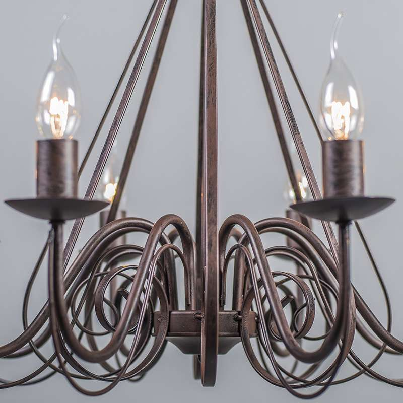Chandelier Rust-Brown - Giuseppe 8