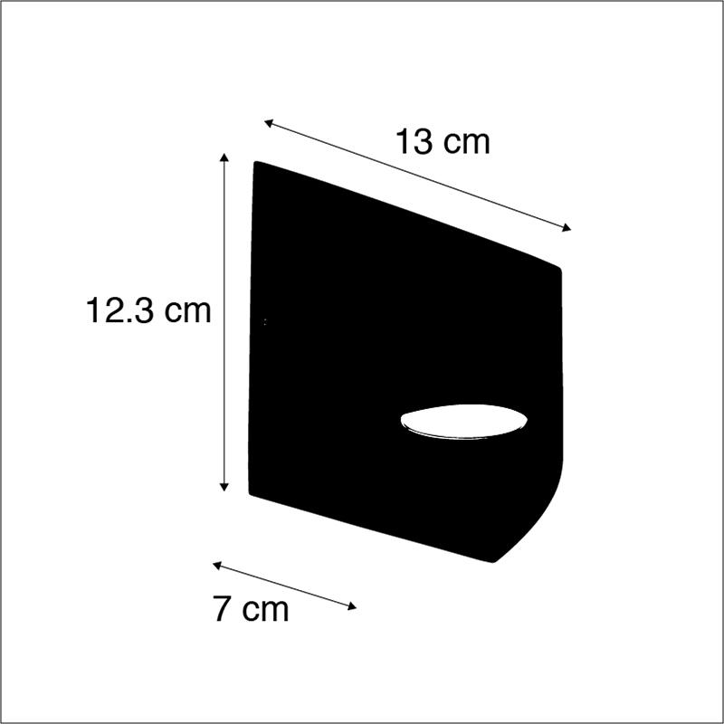 Modern exterior wall lamp dark gray incl. LED IP54 - Mal