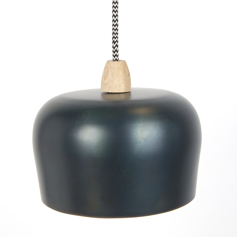 Country Pendant Lamp 3 Antique Blue - Vidya