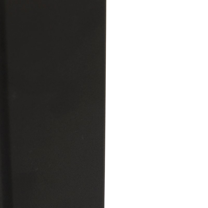 Standing outdoor lamp black with opal white shade 30 cm - Denmark