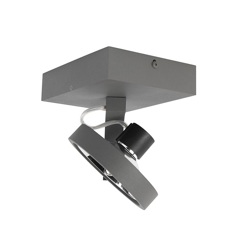 Spot design gris réglable 1 lumière y compris LED - Go