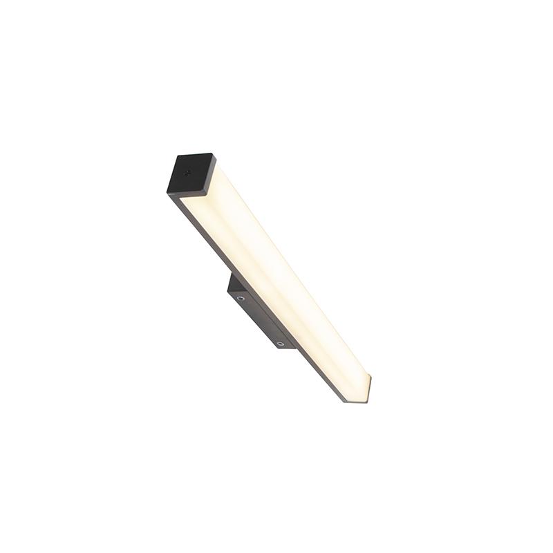 Applique de salle de bain moderne noir 62 cm IP44 - Cascada