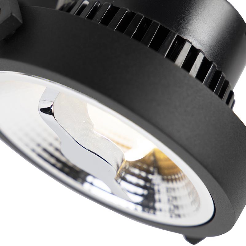 LED 3-phase track spotlight black 15W 2700K incl. AR111- Expert