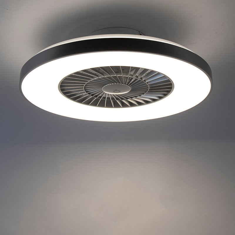 Ceiling fan silver with star effect dimmable - Climo