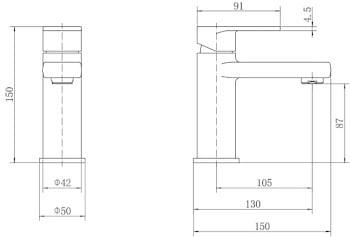 Architeckt Evedal Basin Mixer Tap