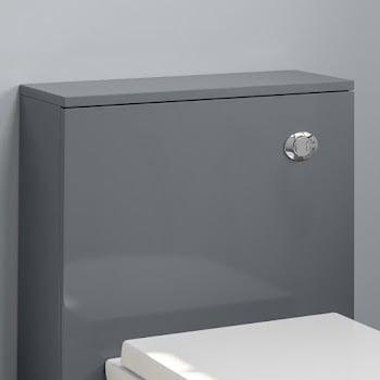 Grey gloss water-efficient dual flush cistern