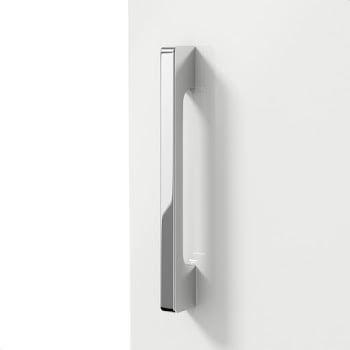 White gloss contemporary chrome handle