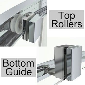 4mm Framed Doors & Rollers Sliding, Quadrants & Corner Entry