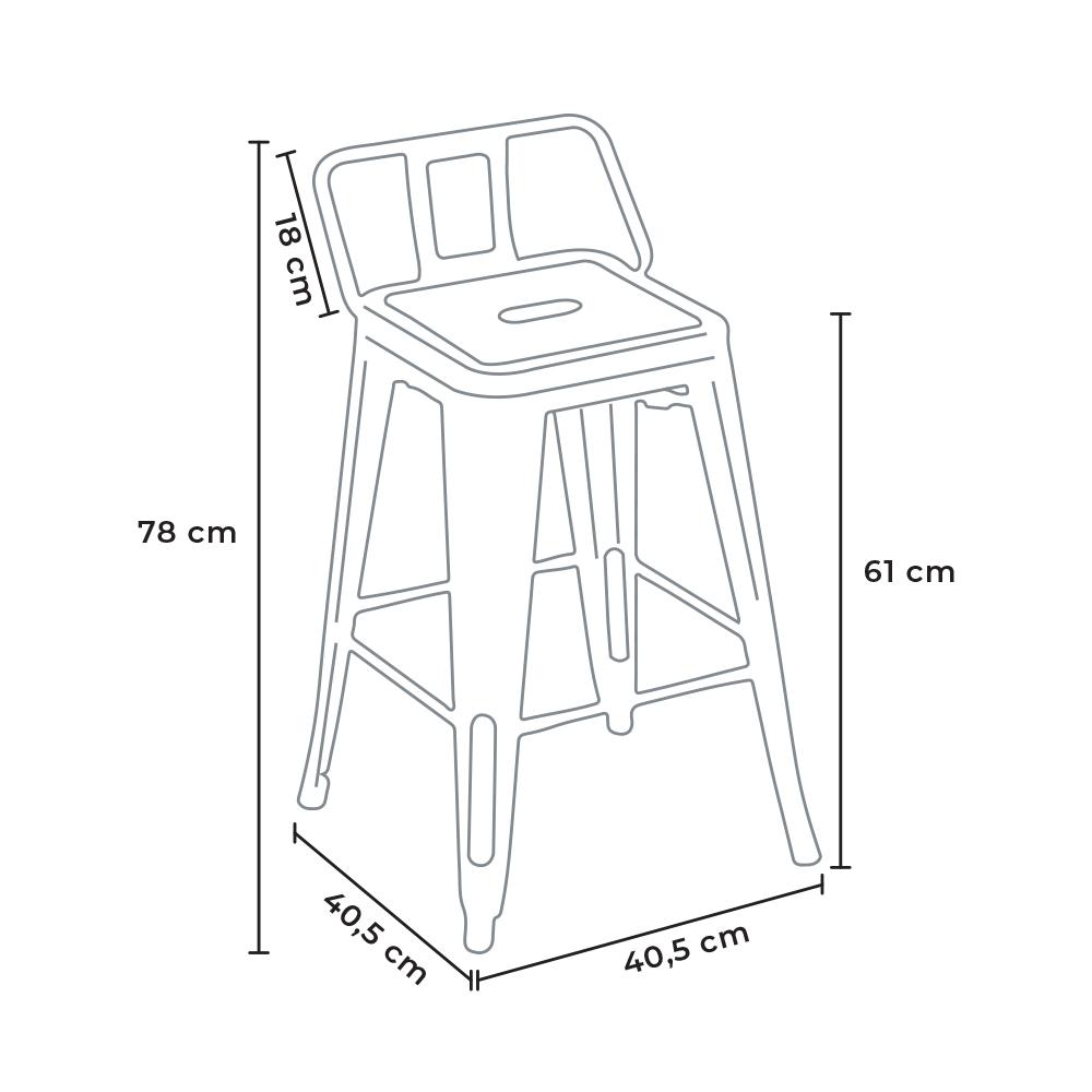stool steel top