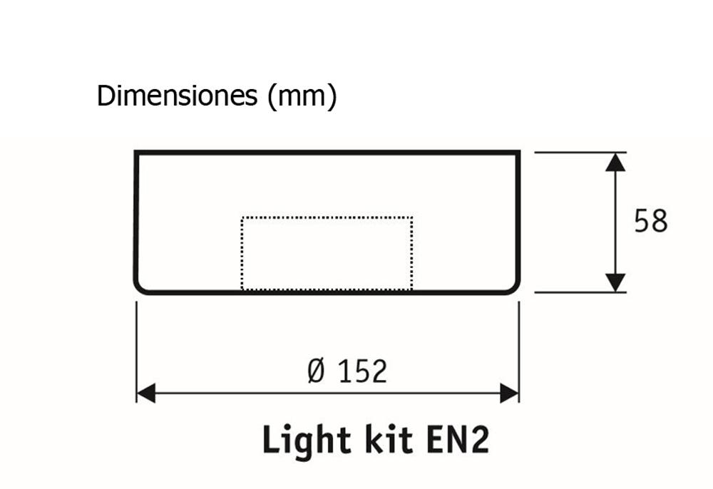 Esquema del kit de luz EN2 WE 2663 para ventilador de techo CasaFan