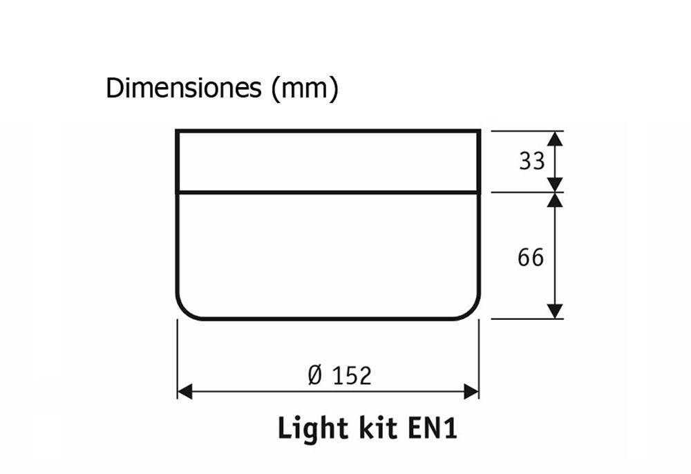 Esquema del kit de luz EN1 WE 2652 para ventilador de techo CasaFan