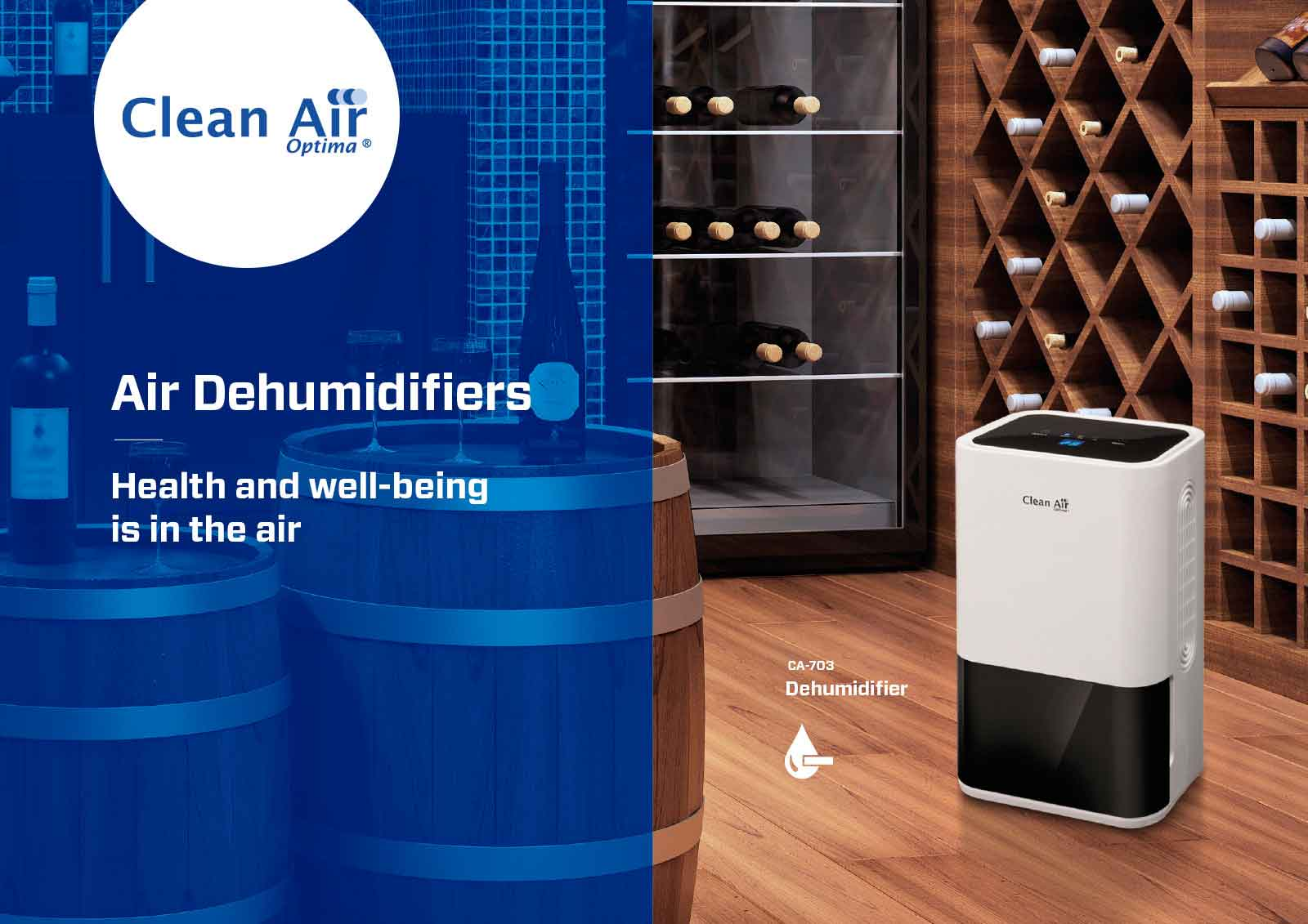 Panel del deshumidificador clean air optima CA-703