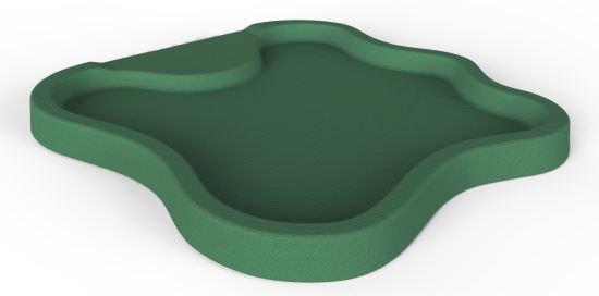 Coupelle verte pour douche solaire