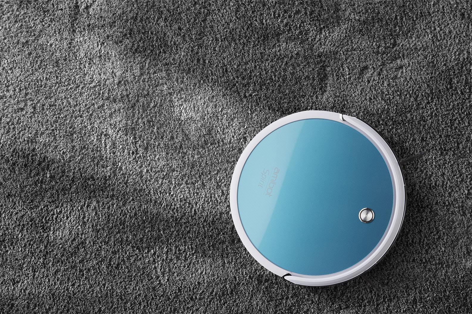 Aspirateur robot et laveur AMIBOT Spirit moquette tapis